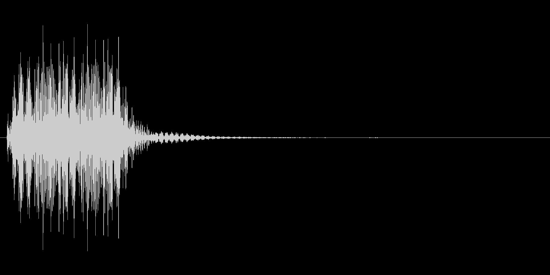 尻尾を振るようなカートゥーン系効果音の未再生の波形