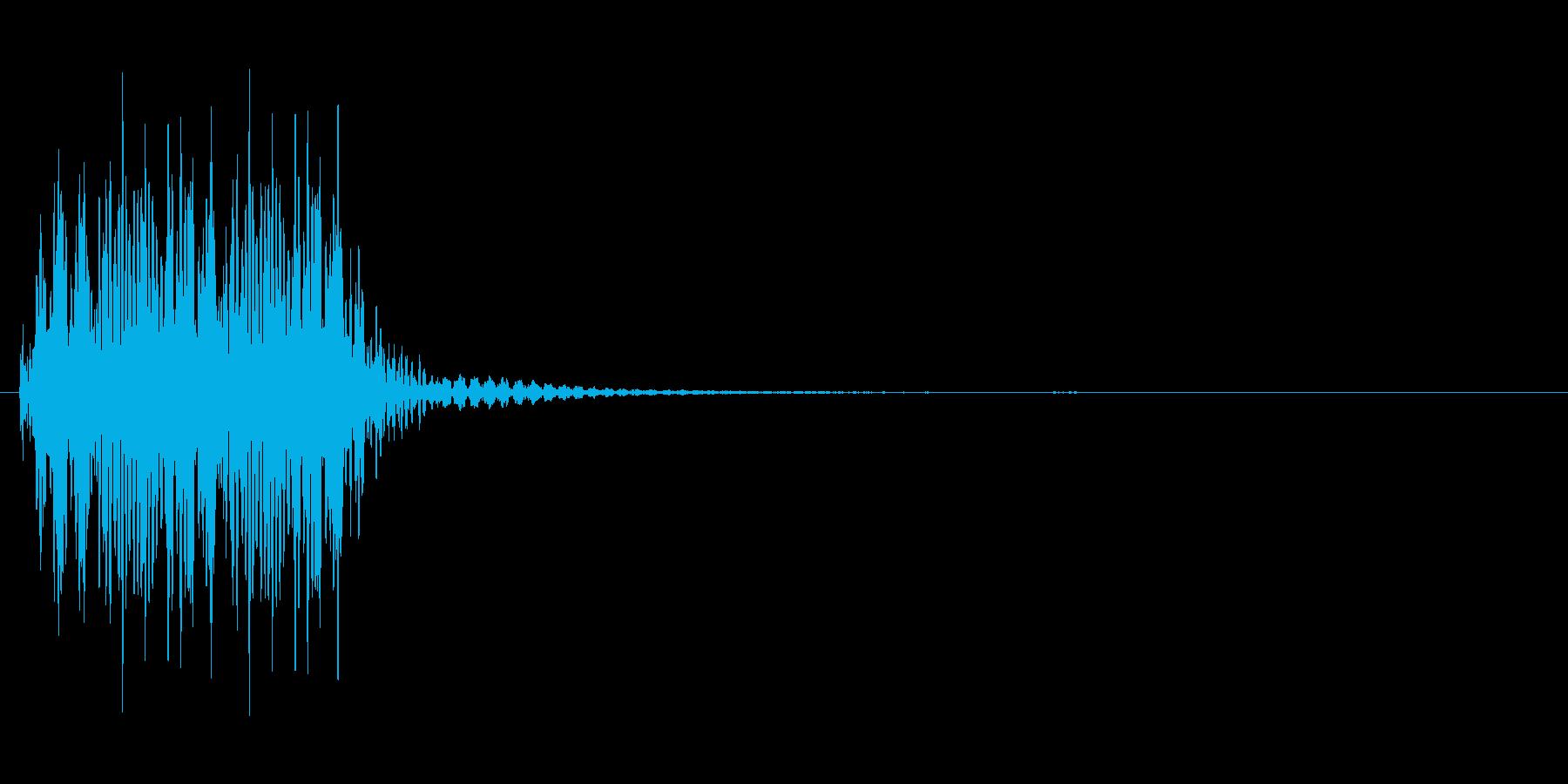尻尾を振るようなカートゥーン系効果音の再生済みの波形
