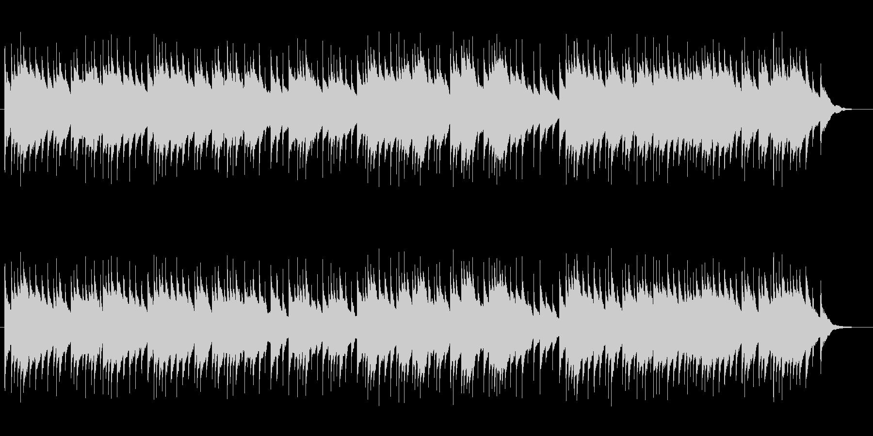 夜BGMに最適なオルゴール曲の未再生の波形