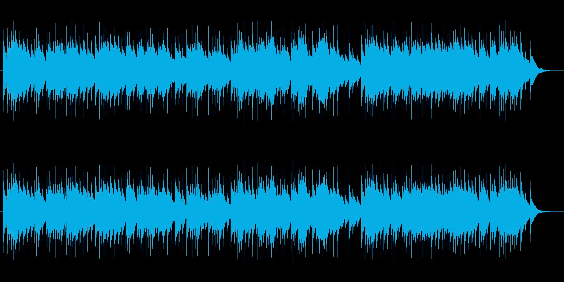 夜BGMに最適なオルゴール曲の再生済みの波形