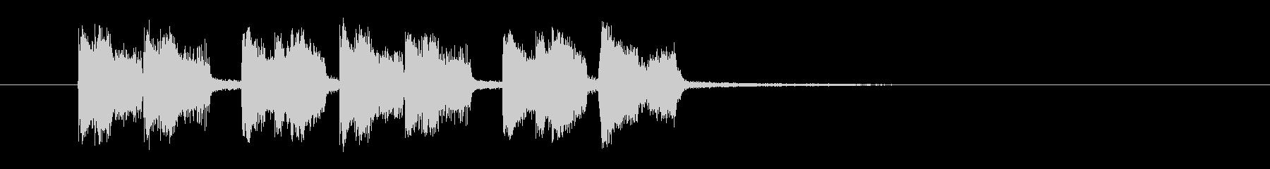 盛大で陽気なトランペットジングルの未再生の波形