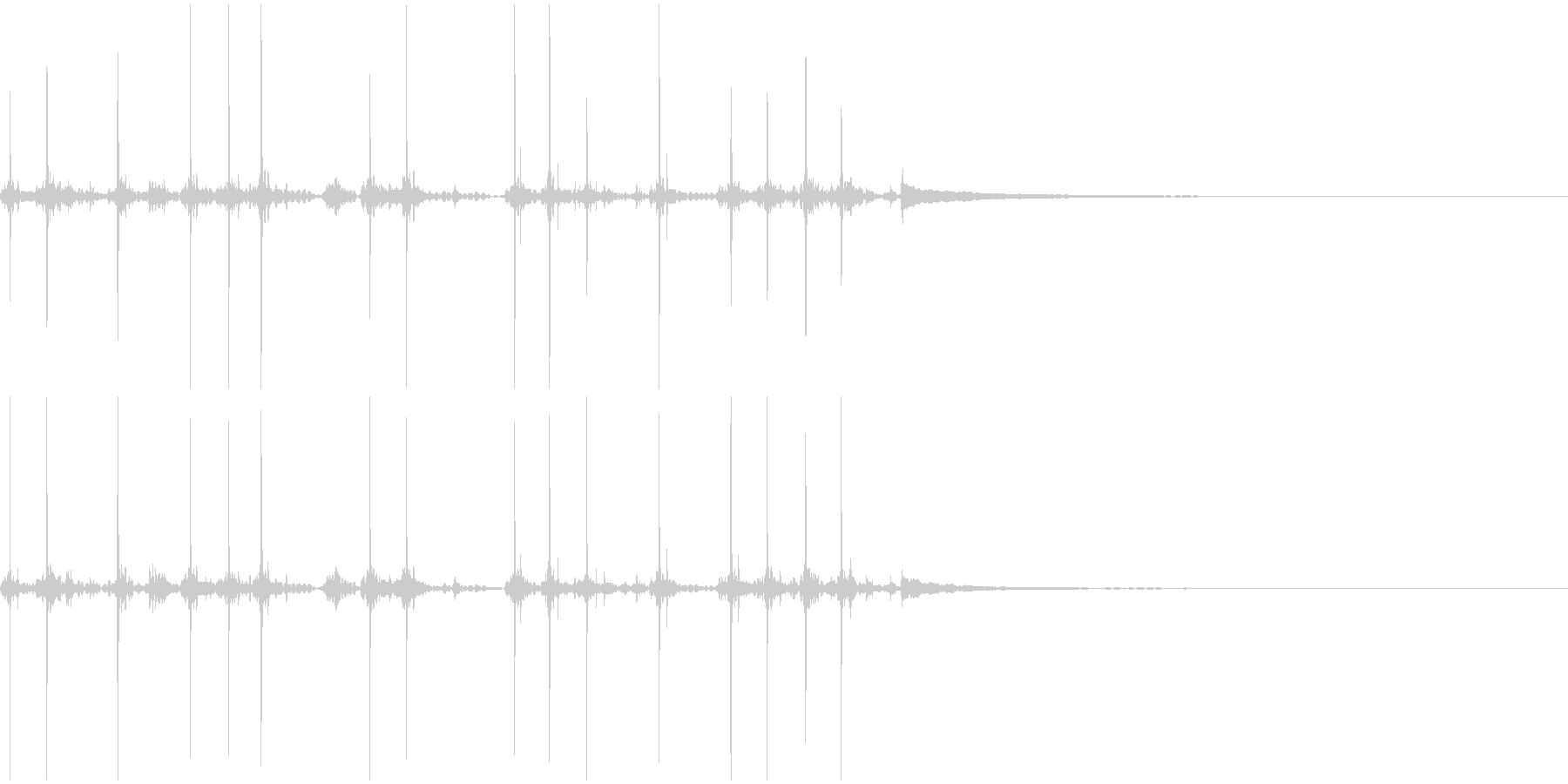 タイプライターの打刻音の未再生の波形