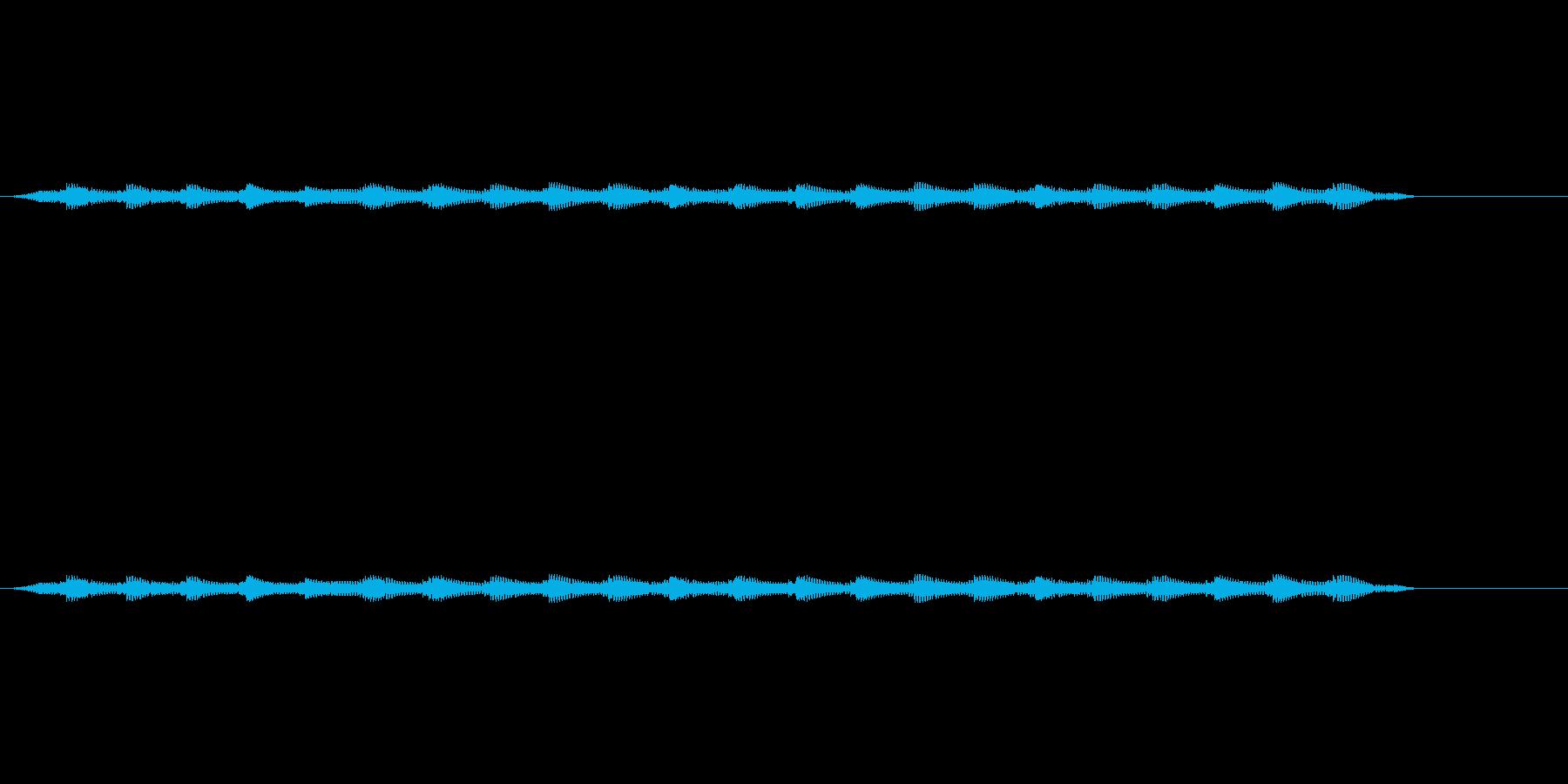 カンカンとなる踏切音の再生済みの波形