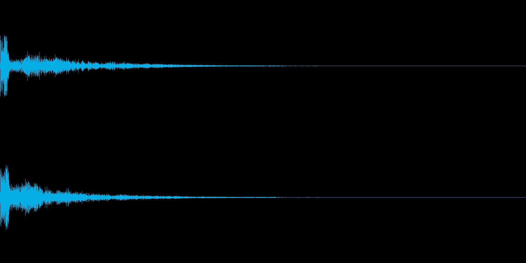 カーン(キャンセル音)の再生済みの波形