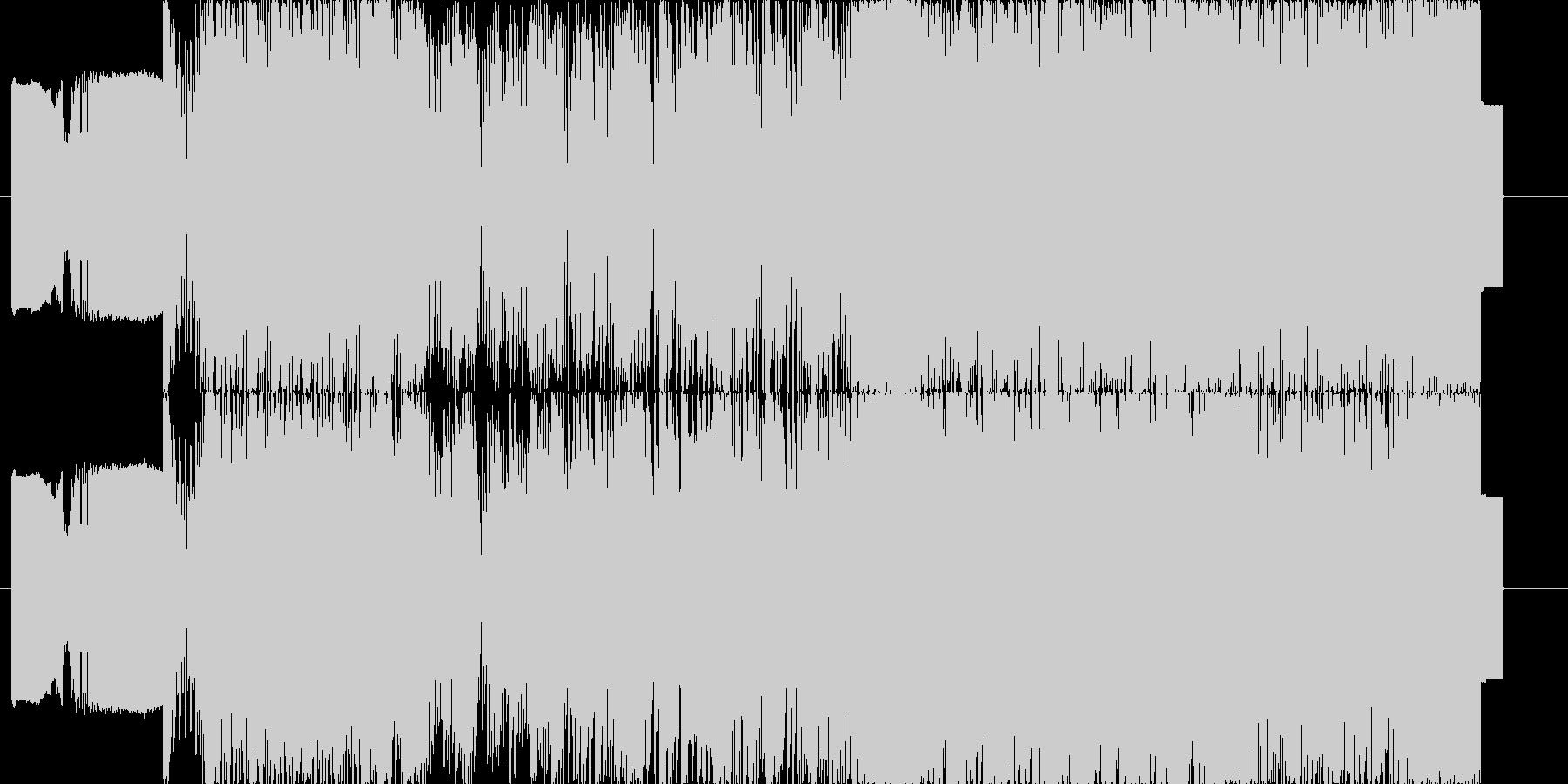 ファミコン風の音源を利用した楽曲の未再生の波形
