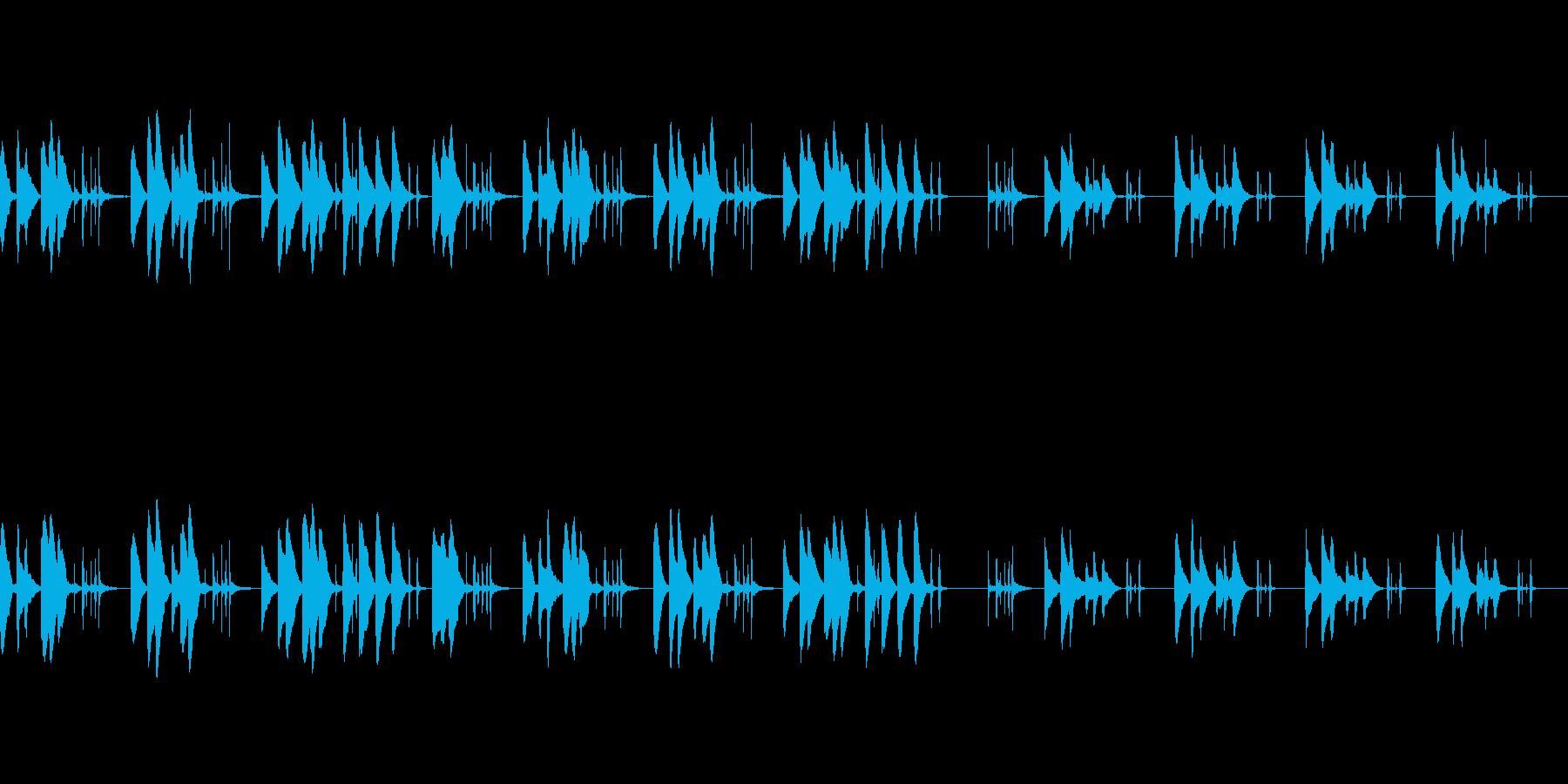 音の少ないシンプルな夜のBGMの再生済みの波形