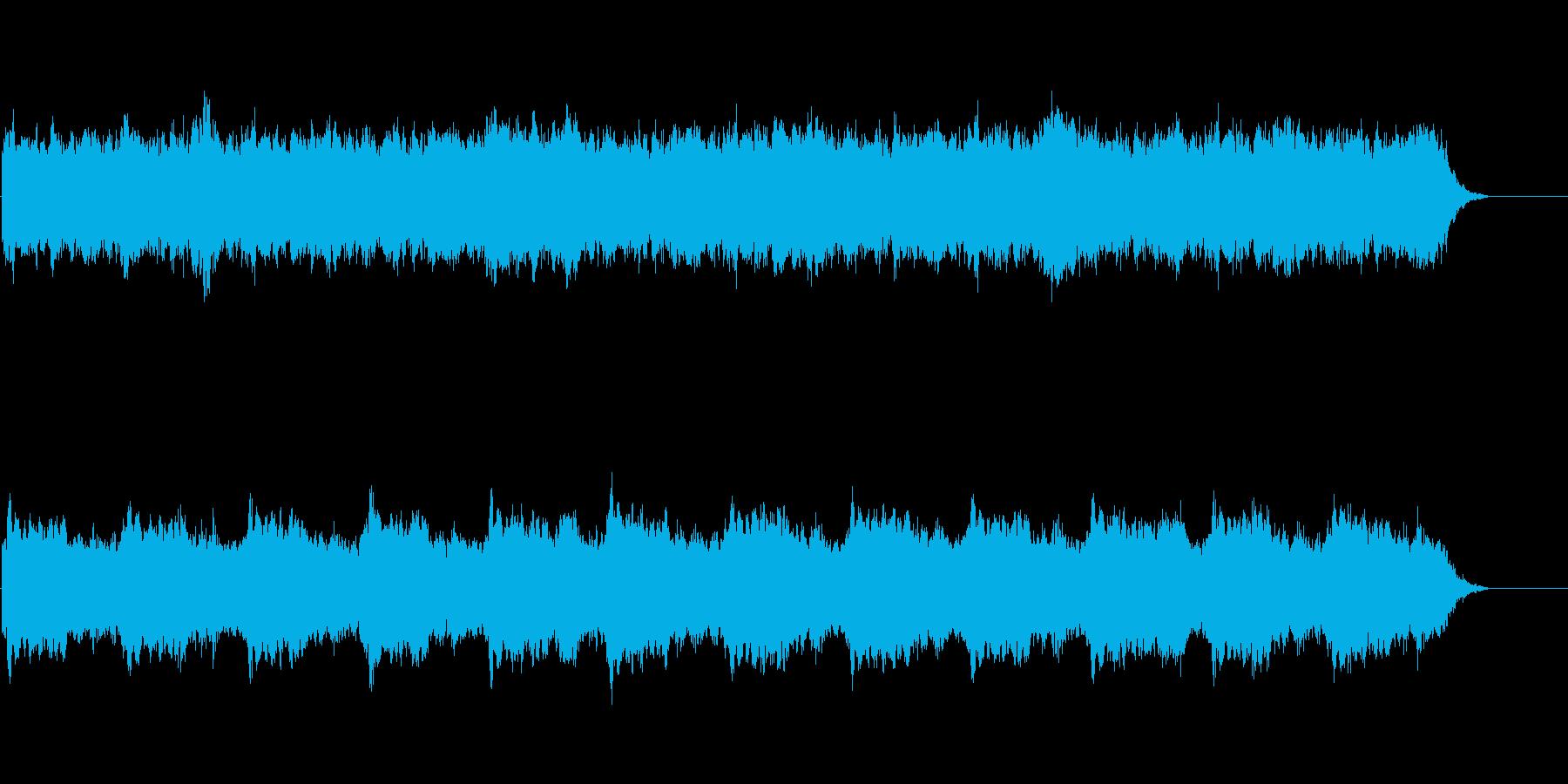 ホラー系の暗い雰囲気のBGMの再生済みの波形