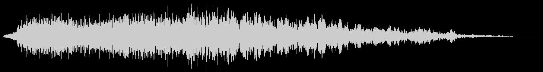 シューコーというようなエアー音の未再生の波形