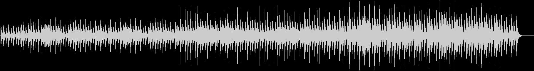 悲劇の後をイメージしたピアノソロ曲の未再生の波形