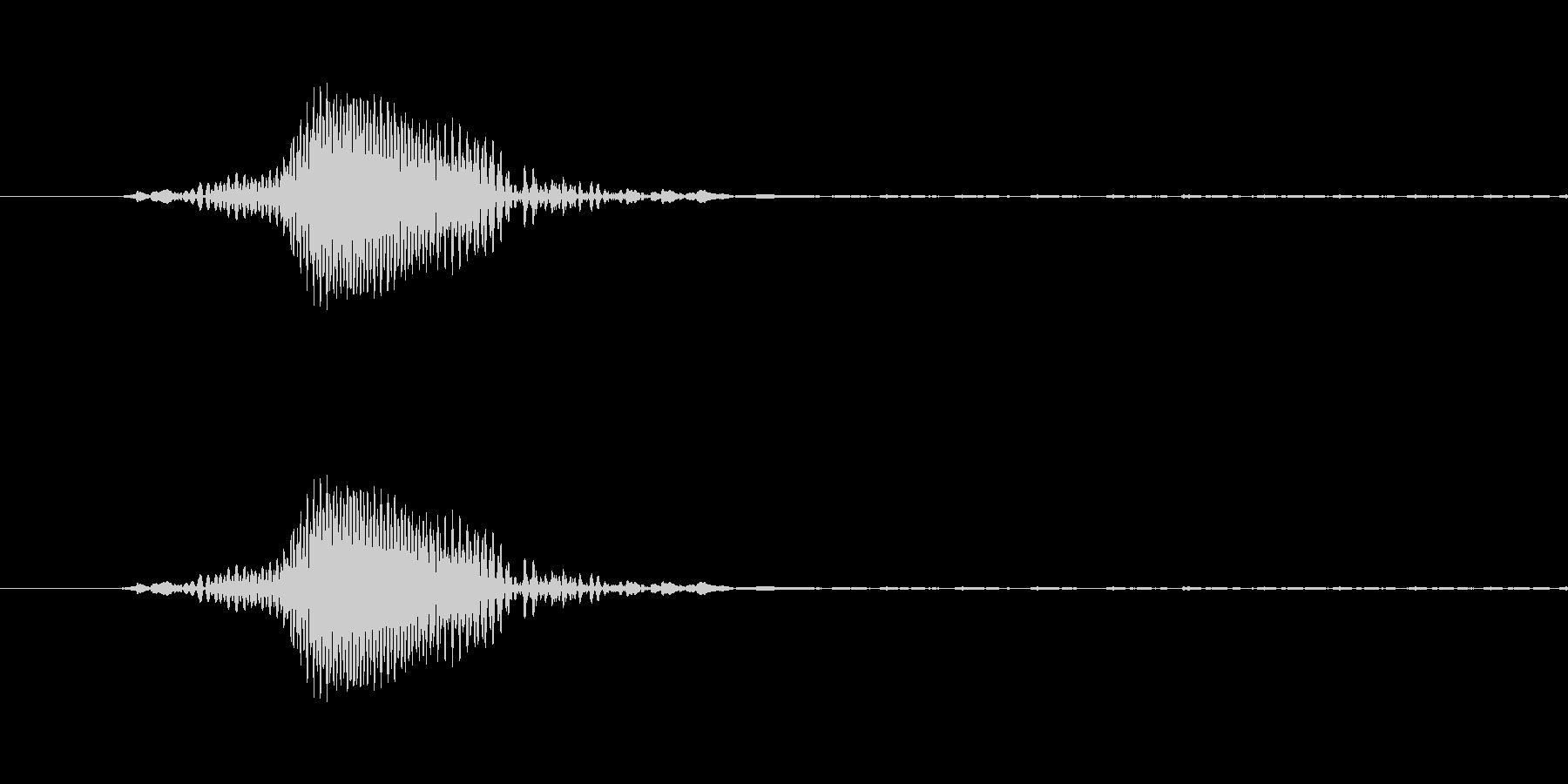 ドOゴンボール、べO-タ風の「な!?」の未再生の波形
