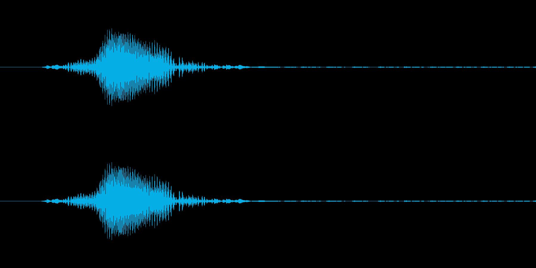 ドOゴンボール、べO-タ風の「な!?」の再生済みの波形
