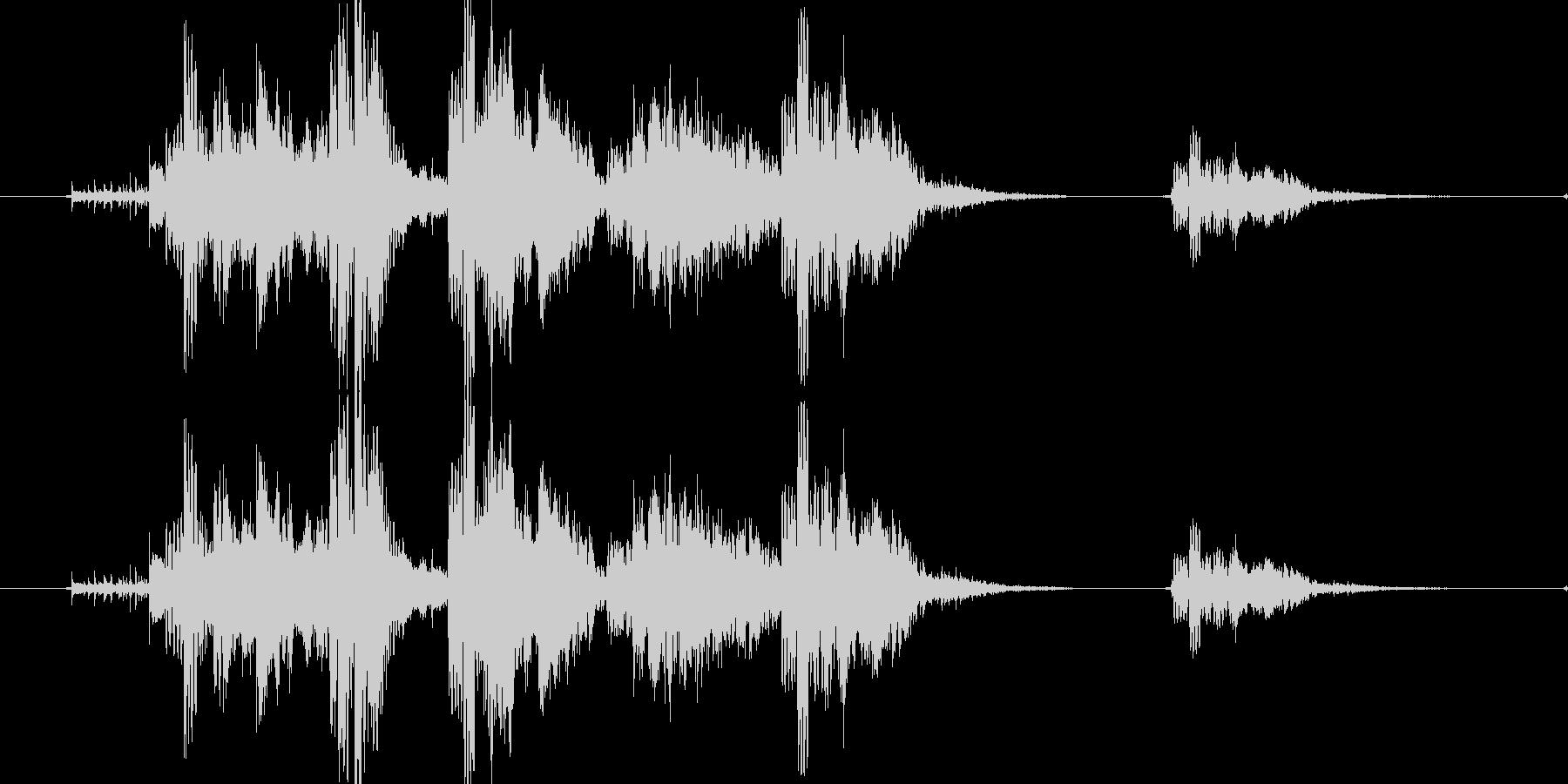 リセット音5(ゲヴァゲヴァシャッシャッ)の未再生の波形