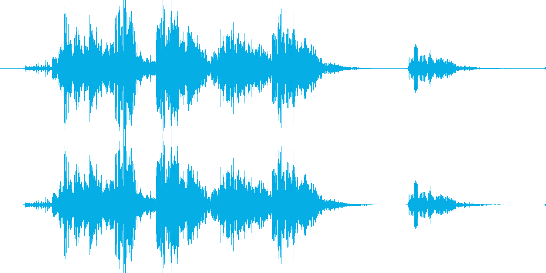リセット音5(ゲヴァゲヴァシャッシャッ)の再生済みの波形