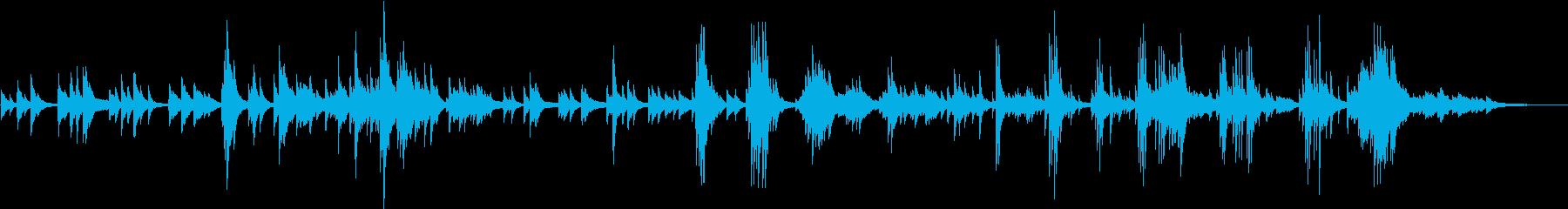 ゆったり流れる静かなくつろぎのピアノの再生済みの波形