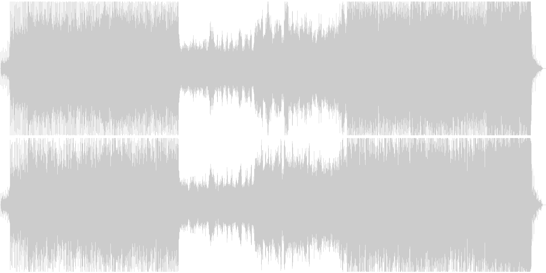 原始時代や恐竜時代のイメージの壮大な曲の未再生の波形