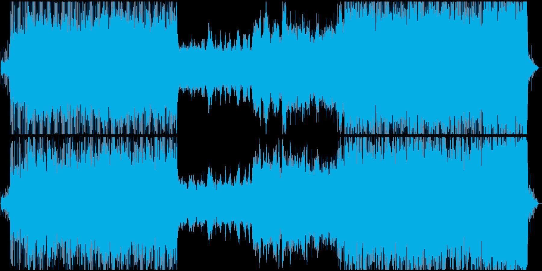 原始時代や恐竜時代のイメージの壮大な曲の再生済みの波形
