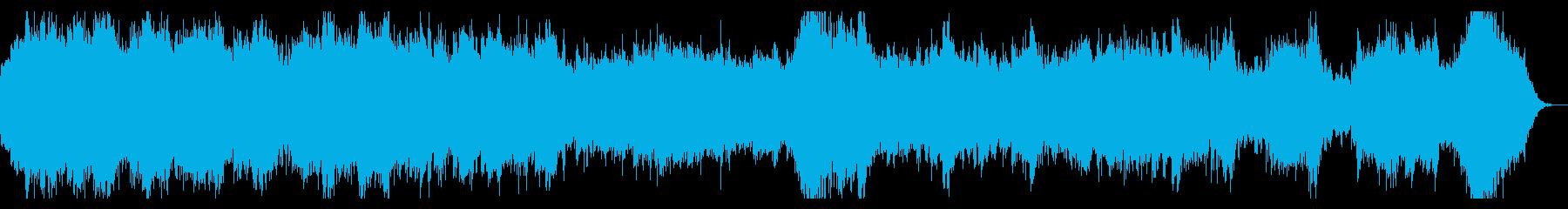 ホラー系ダークなオーケストラBGMの再生済みの波形