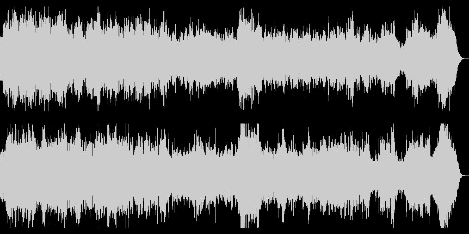 ホラー系ダークなオーケストラBGMの未再生の波形