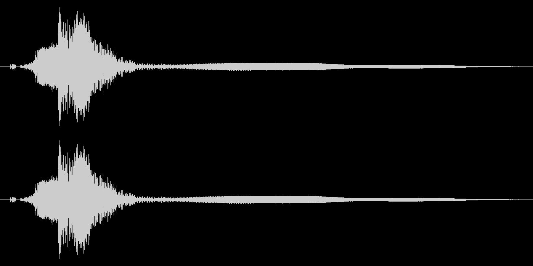 カキーン!剣や刀の抜刀/斬撃/惨殺!05の未再生の波形