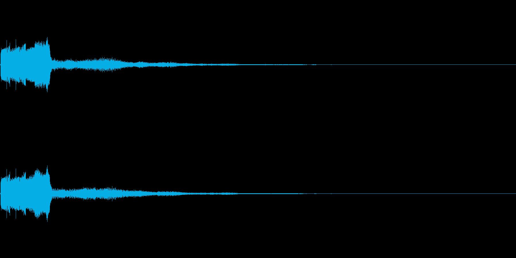 ピコピコ(決定音、ゲーム、アプリ、動画)の再生済みの波形