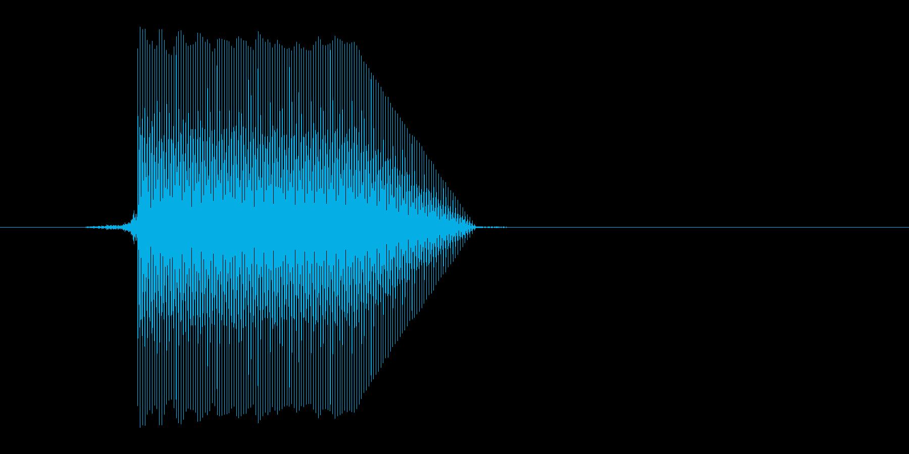 ゲーム(ファミコン風)セレクト音_009の再生済みの波形