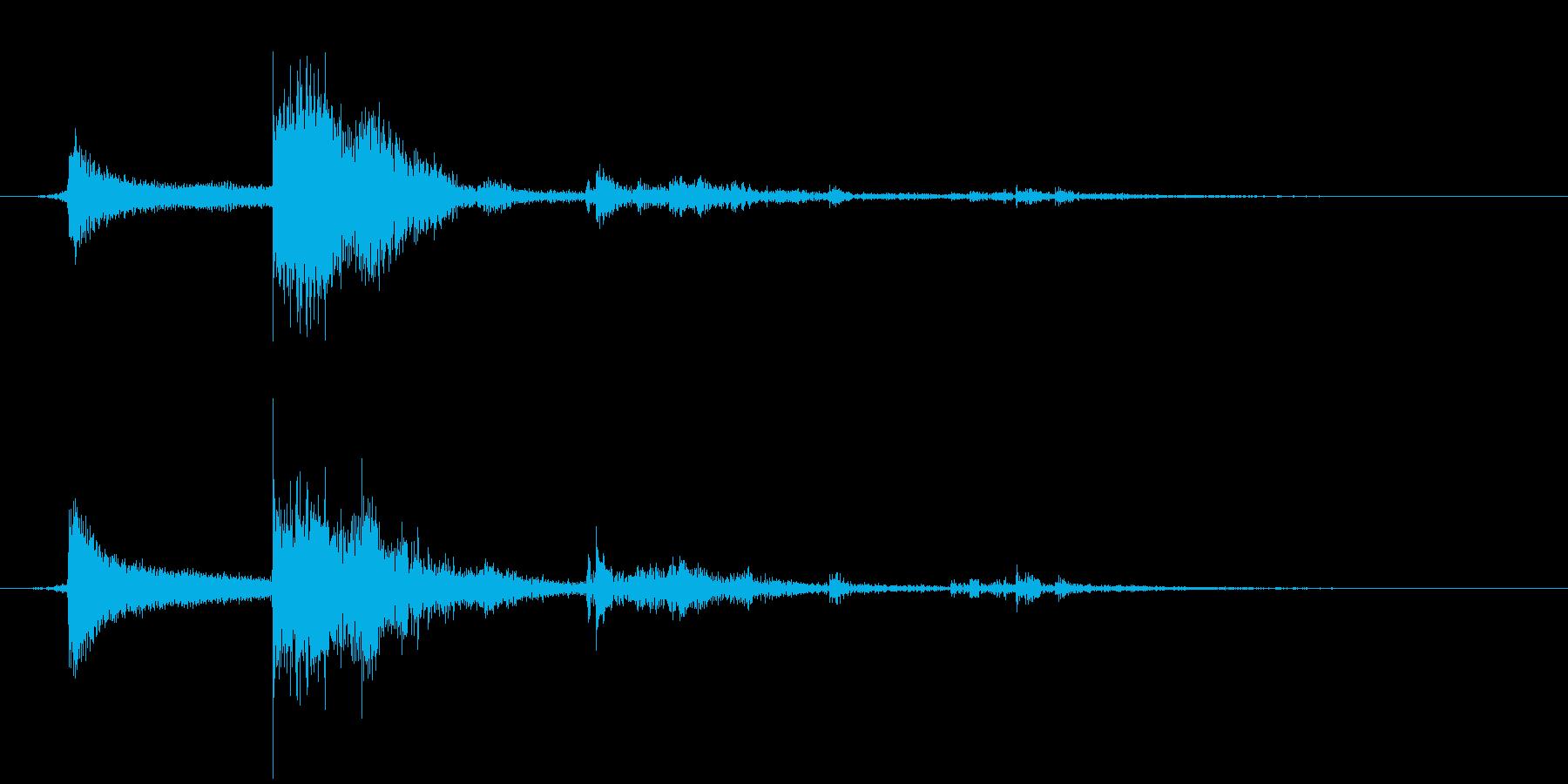 カギを入手した音・チャキッという金属音の再生済みの波形