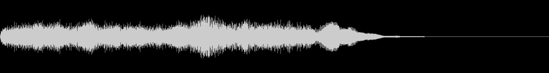 未来的な前進するイメージの効果音の未再生の波形