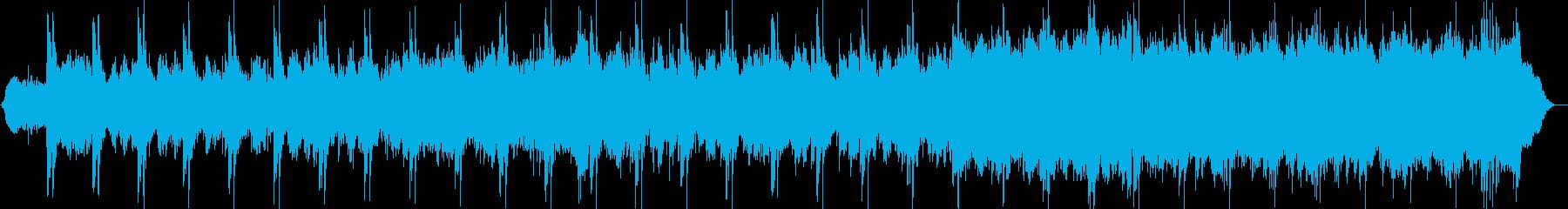 スチールを強調したギターサウンドの再生済みの波形