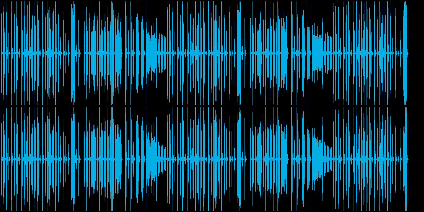 コミカル映像に 日常系かわいいリコーダーの再生済みの波形