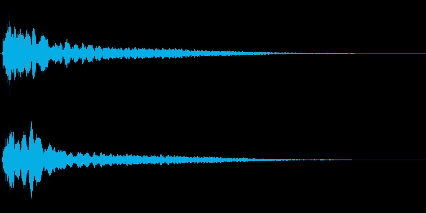 サスペンスに最適!ピアノの弦を弄ぶ音46の再生済みの波形