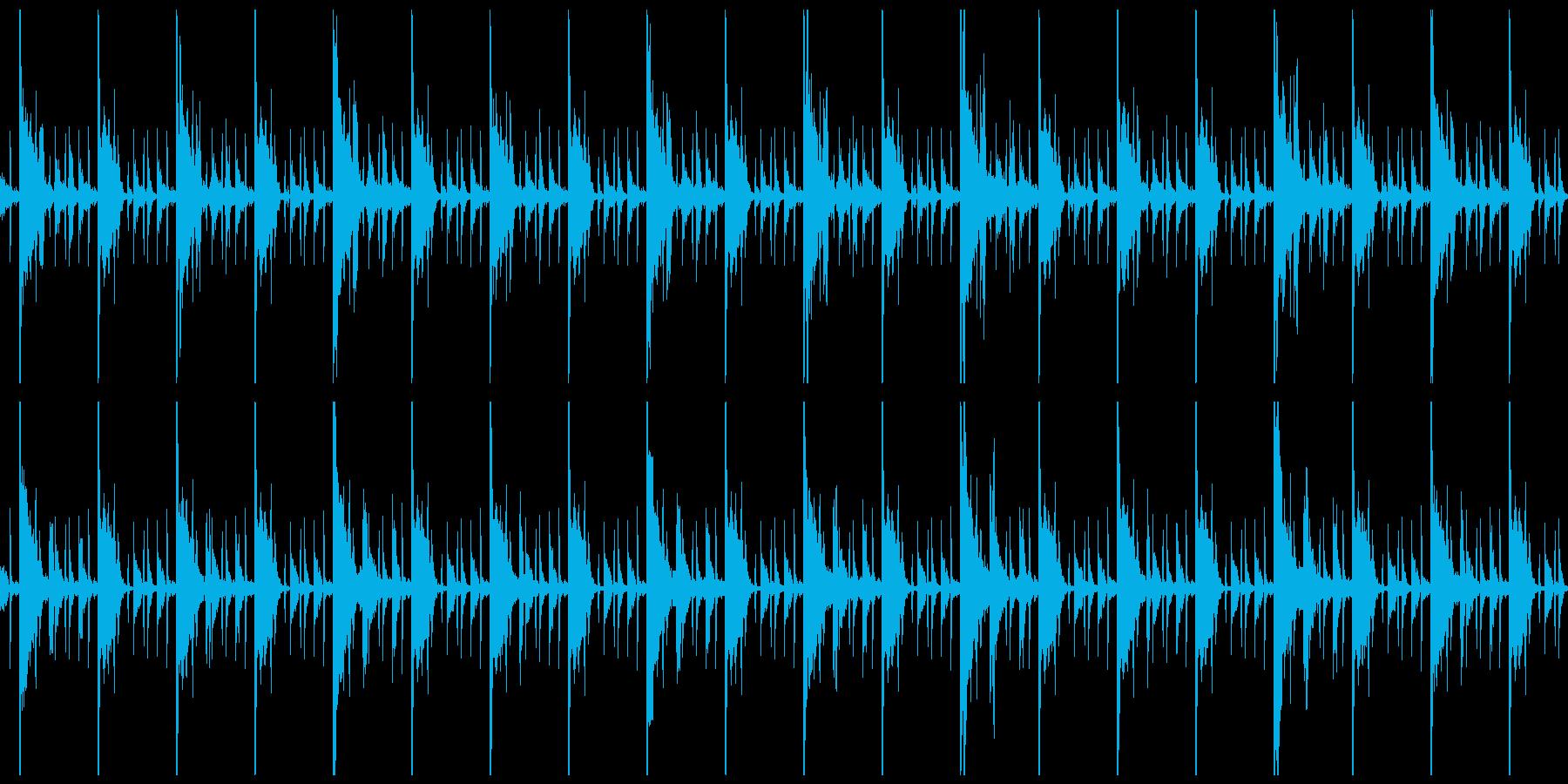 ヒップホップっぽい系のループの再生済みの波形