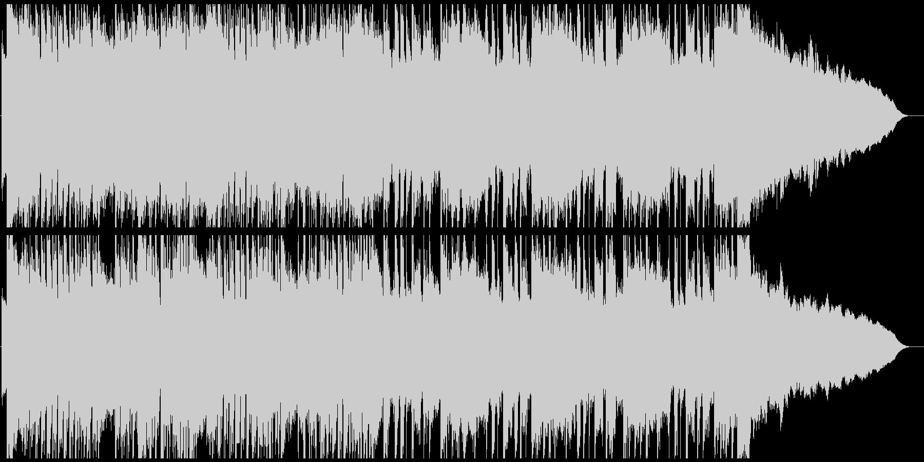 勢いのあるロック調のオープニング曲の未再生の波形