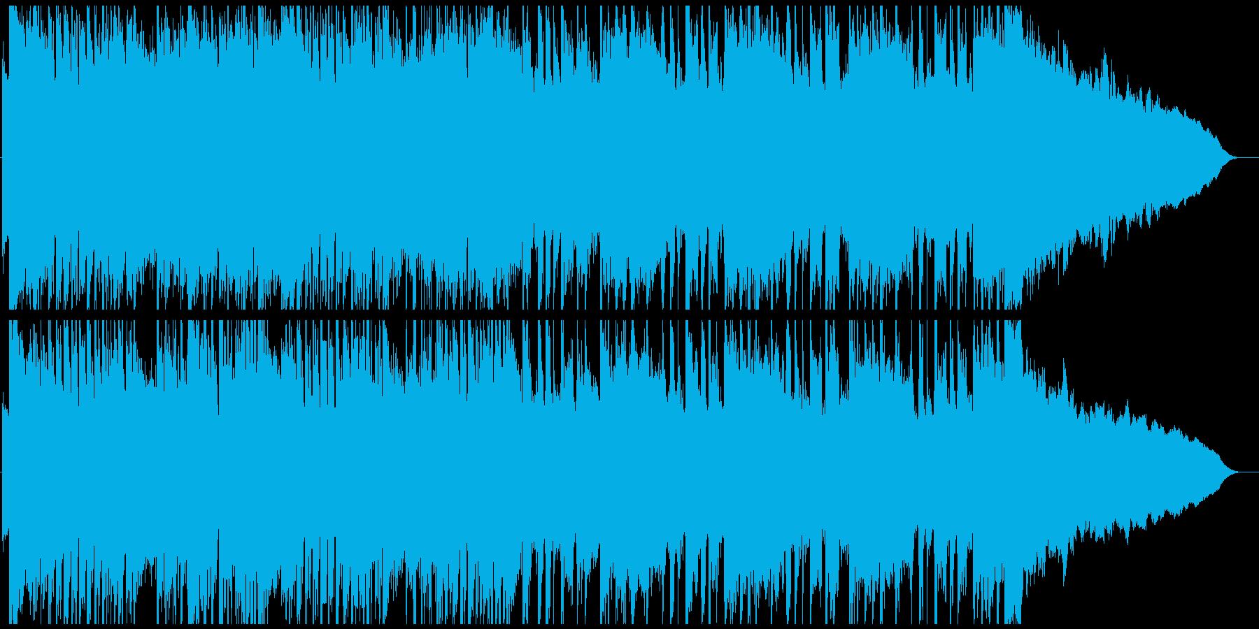 勢いのあるロック調のオープニング曲の再生済みの波形