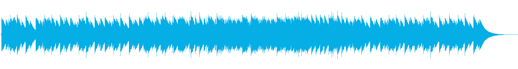 オルゴール-メロディ強調しすぎない清涼感の再生済みの波形