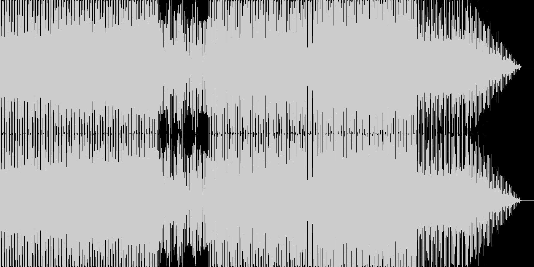 哀愁のあるEDMの未再生の波形