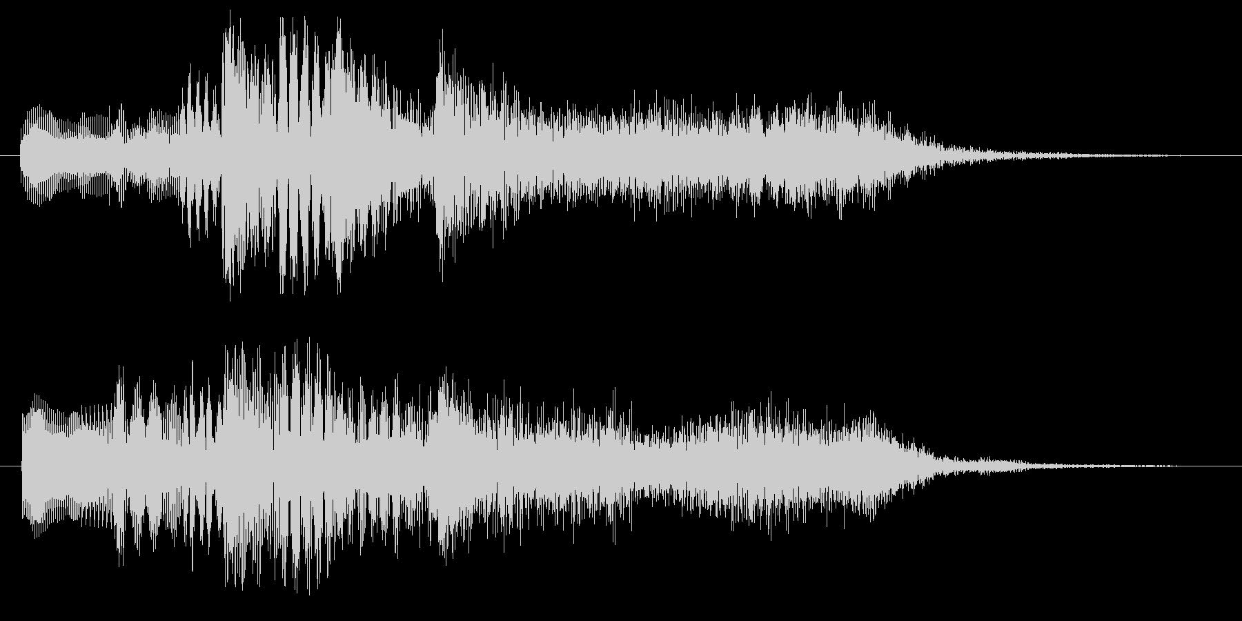 ハープとストリングスのジングル2の未再生の波形