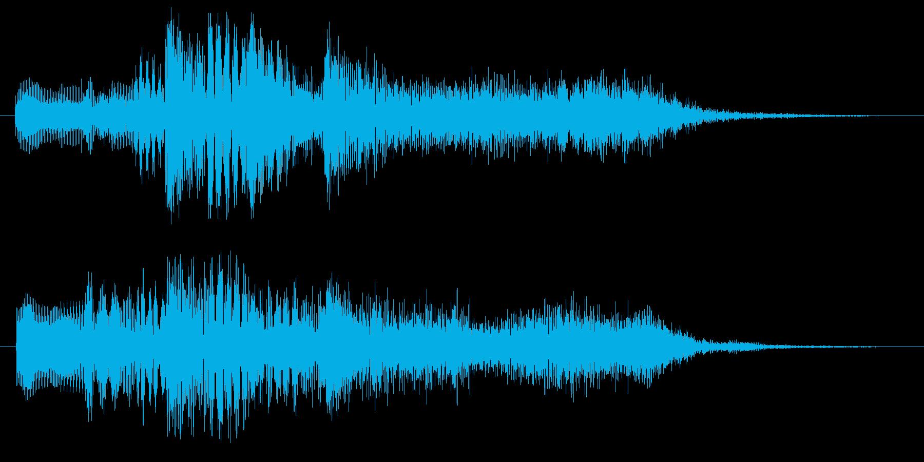 ハープとストリングスのジングル2の再生済みの波形