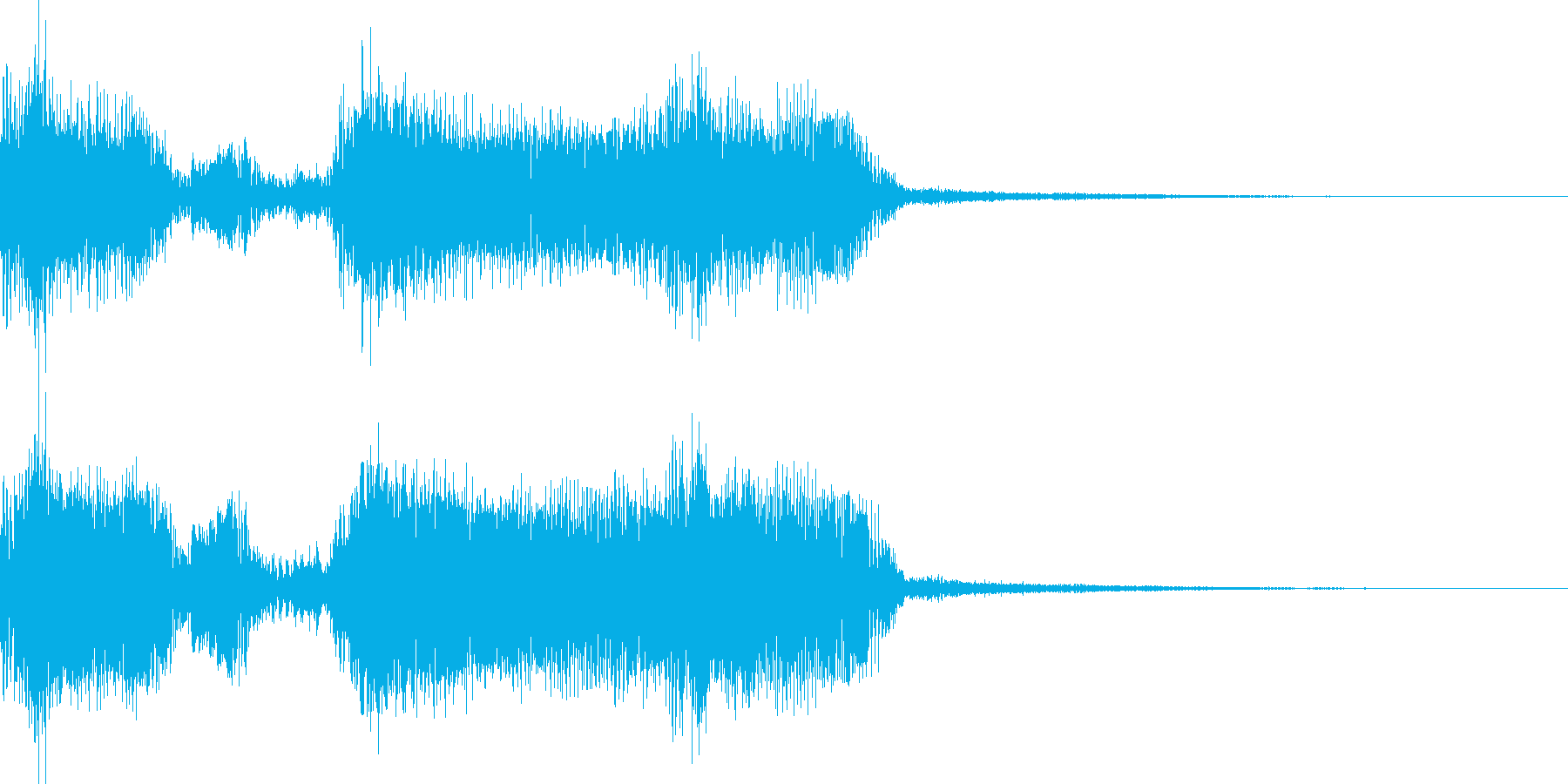エレキギターがメインのロック系ジングルの再生済みの波形