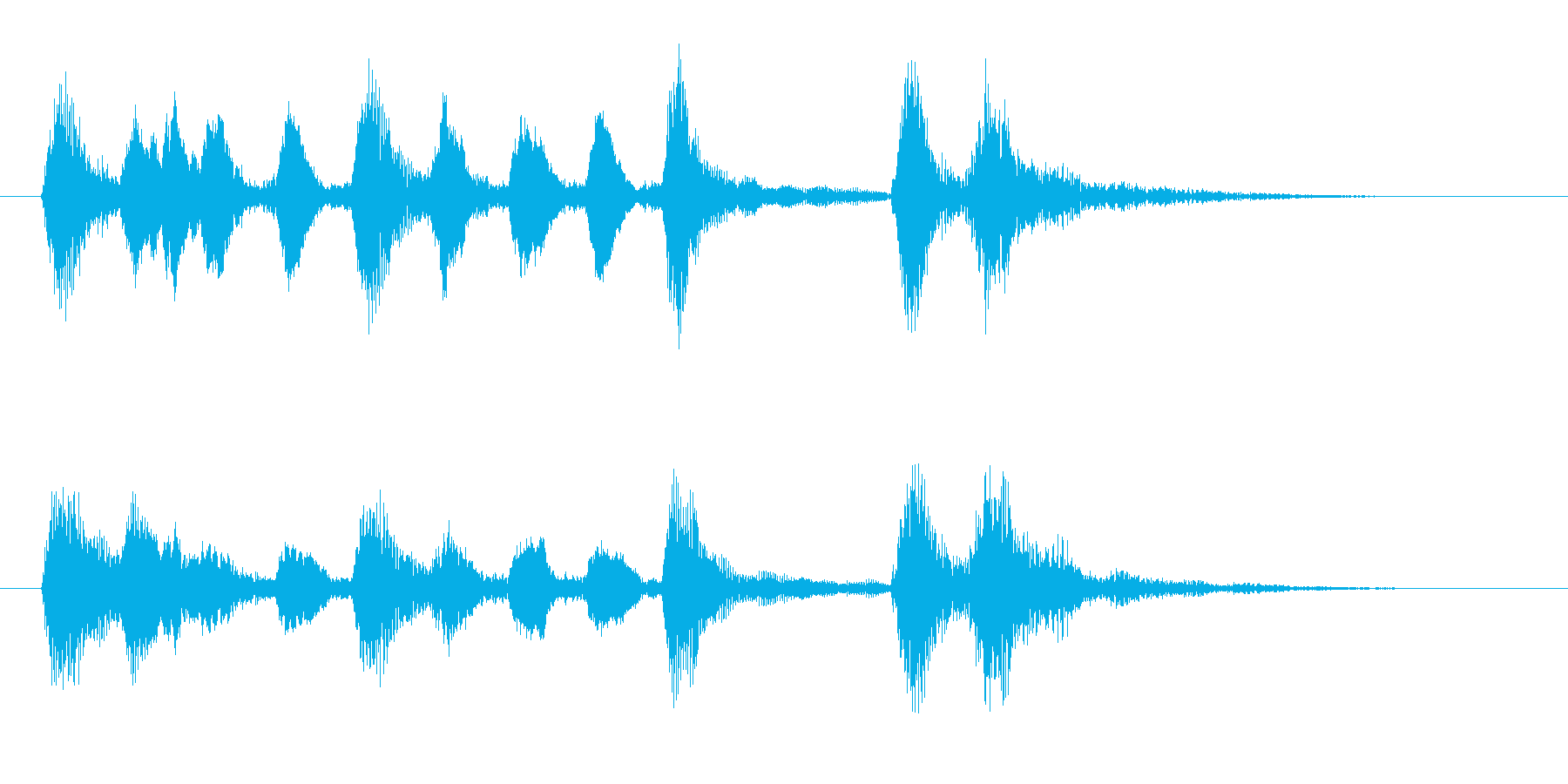 5秒ストリングスアイキャッチの再生済みの波形