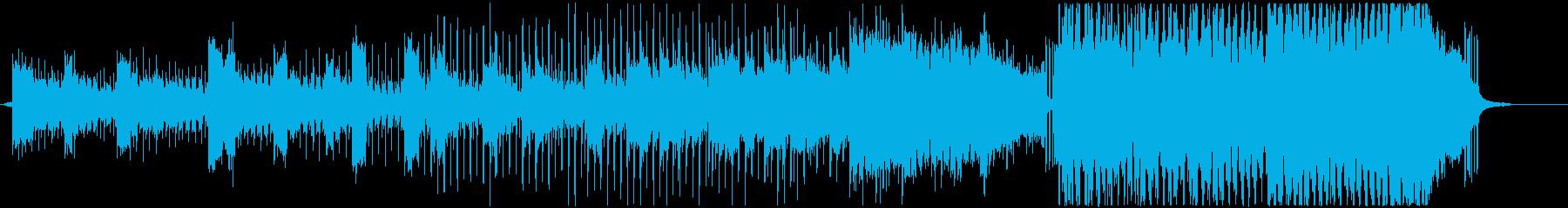 近未来を装うノイジーな4つ打ちソングの再生済みの波形
