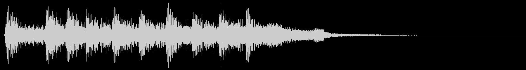 レトロなゲームクリア音 勝利 ピコピコ音の未再生の波形