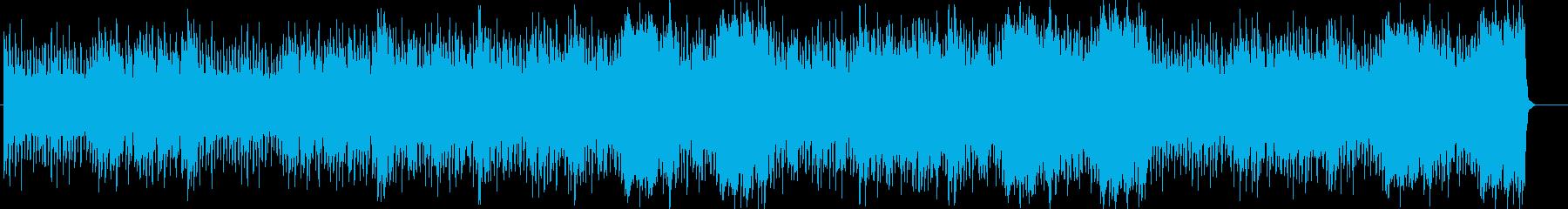 効果音が印象的なふてくされたような曲の再生済みの波形