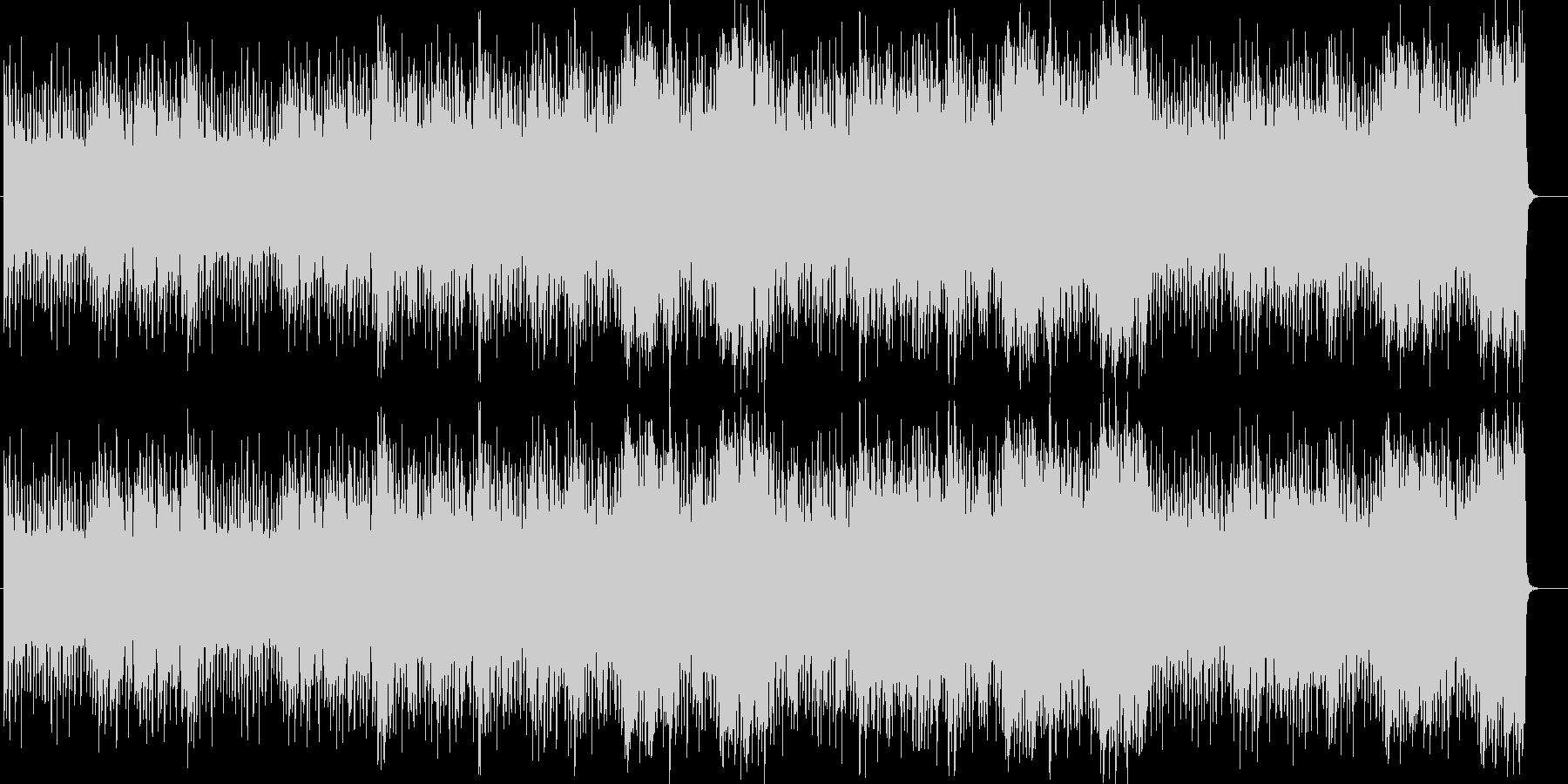 効果音が印象的なふてくされたような曲の未再生の波形
