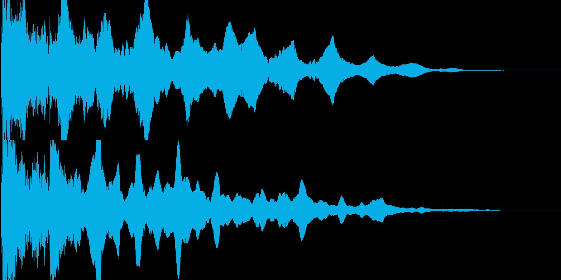 てー(ガラス的クリック音)の再生済みの波形