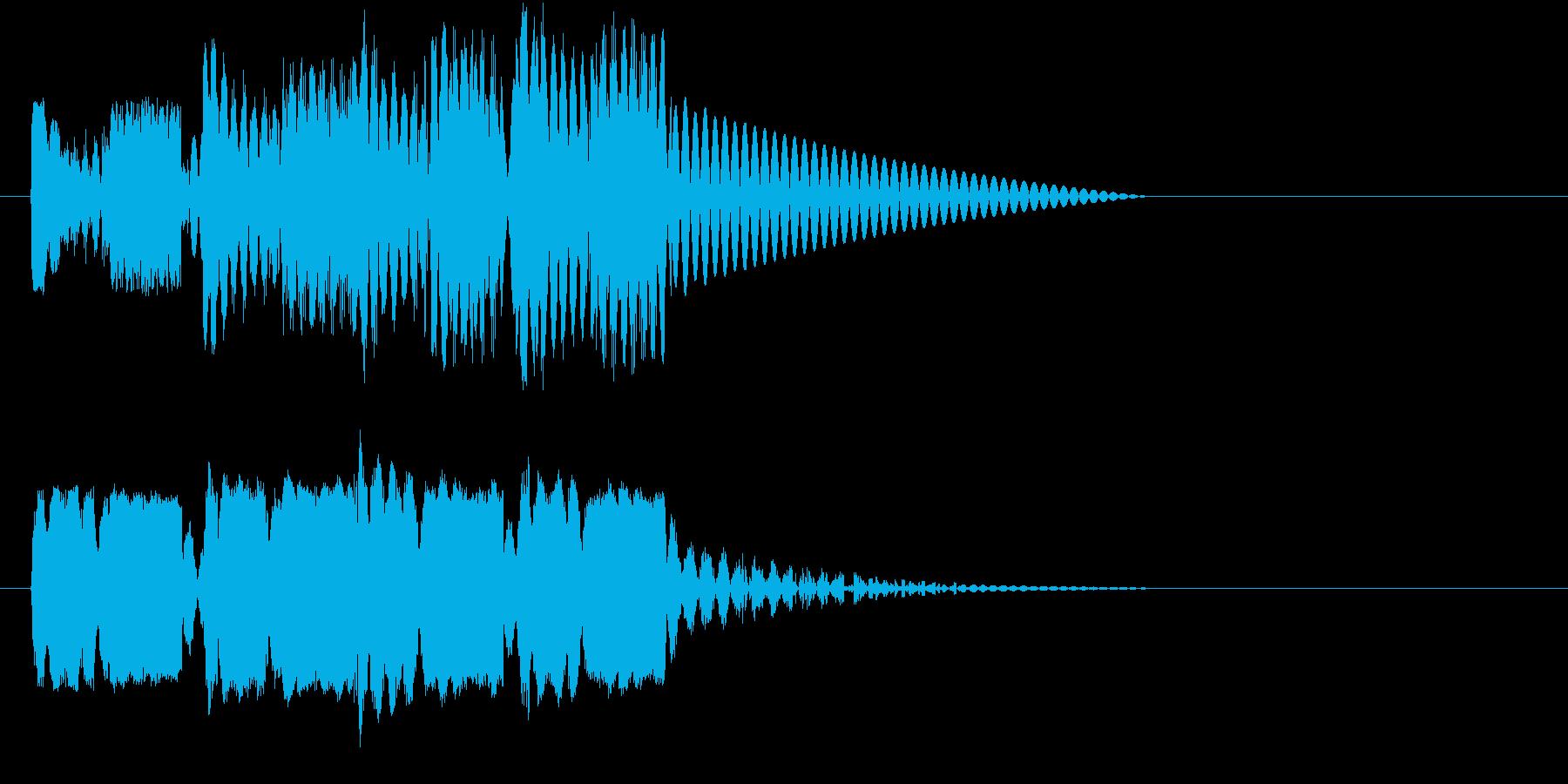 ロボットサウンド 機械音10の再生済みの波形