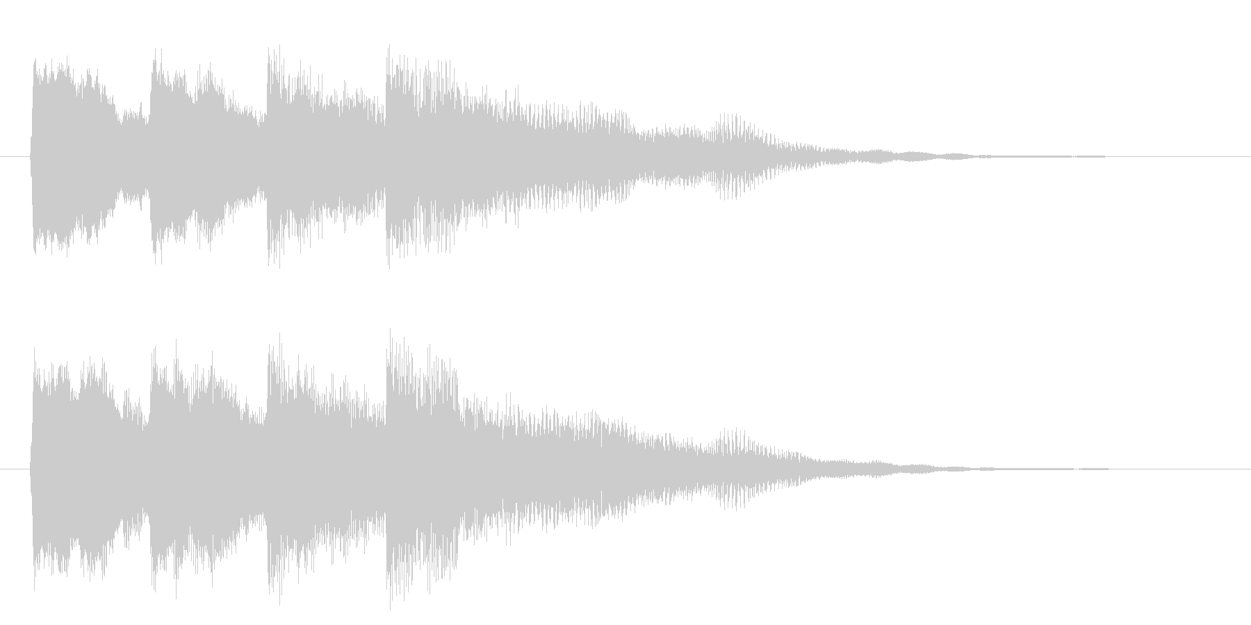 ピンポンパンポン(下降)の未再生の波形