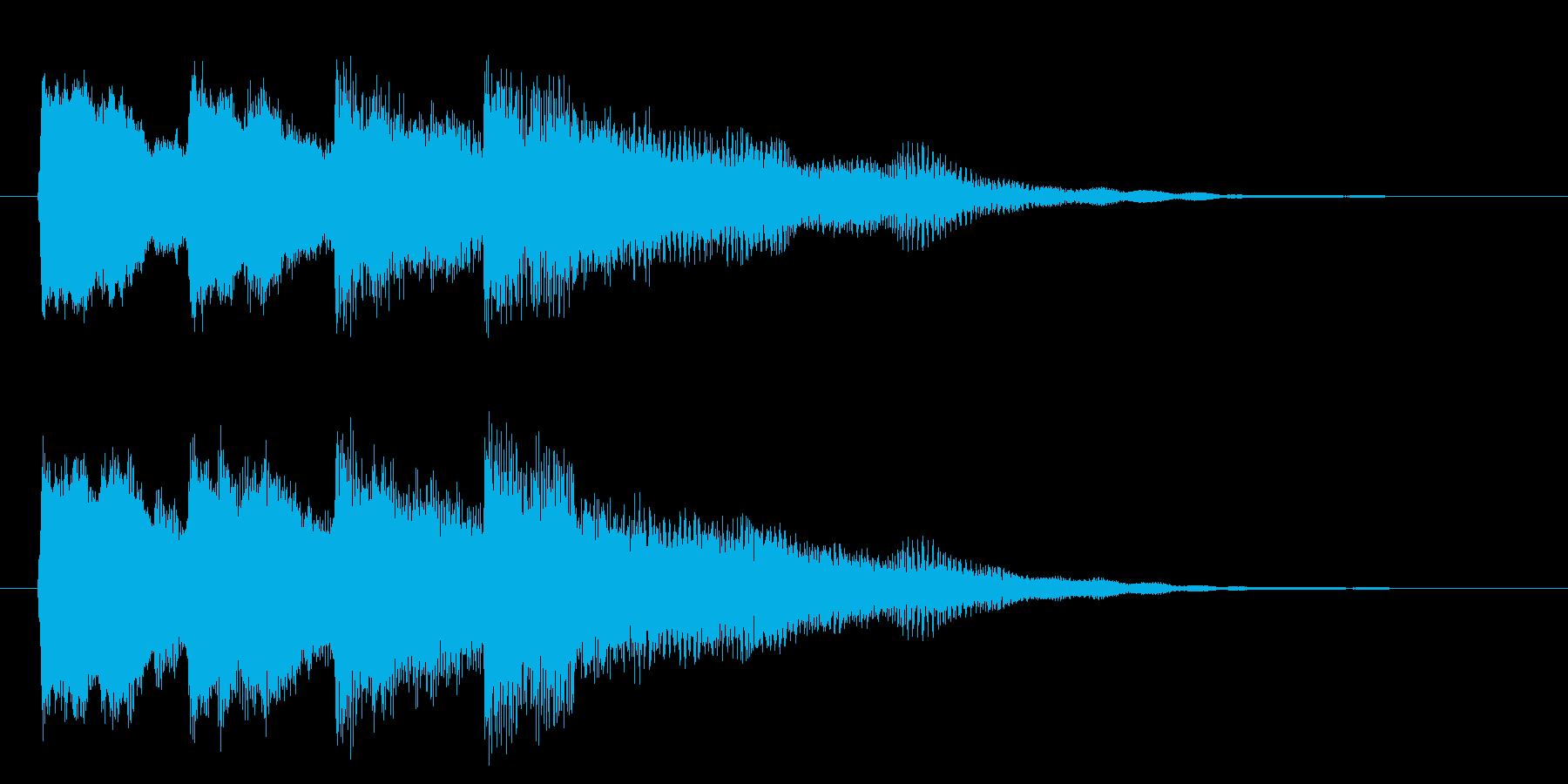 ピンポンパンポン(下降)の再生済みの波形