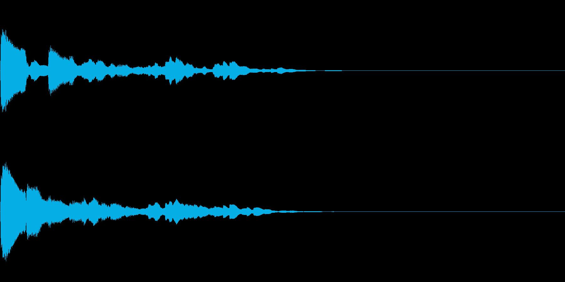 効果音 テロップ  クリック キラキラの再生済みの波形