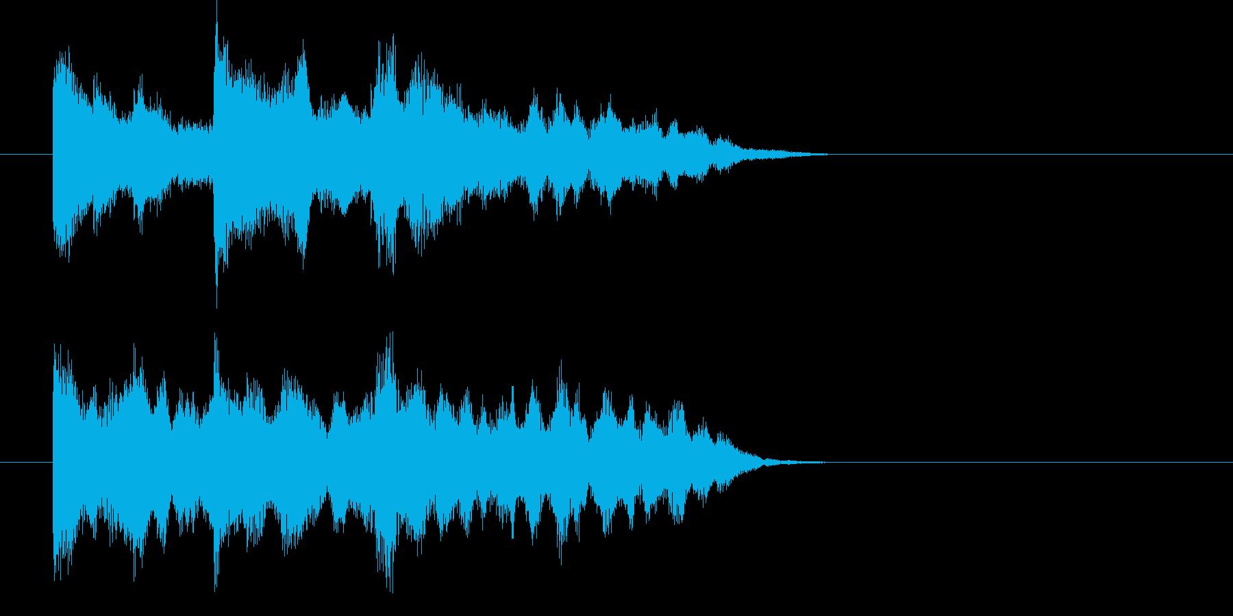 幻想的シンセサイザーによる場面転換の再生済みの波形