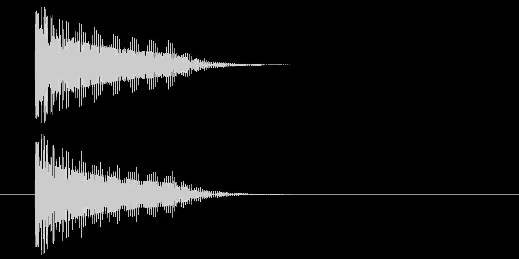 ダメージSEの未再生の波形